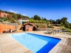 Sauna, Pool and Villa.