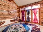Indoor hot tub & spa room
