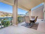 Large deck off dining and living room. Large table that seats 6 for outdoor dining.