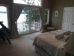 Master bedroom overlooking Davis Cove