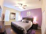 Main Floor Master Bedroom - King Bed