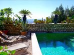 Sermoneta, Historic Stone Village House with Pool, in a Medieval Hill Town
