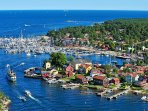 Sandhamn in the outer archipelago can easily be reached by Waxholm boat. It is nice for a day trip