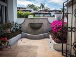 Entry patio with fountain