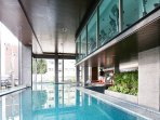 Panoramic pool  views at Fitness center on the 3rd floor