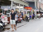 Various of street food vendors right across the alley from your stay