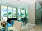 Piano Room for Small or Large Parties and Reunions, has View of the Pool, Gardens and Ocean.