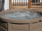 Relax in our hot tub!