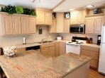 Fully Equipped Kitchen with all new GE Appliances