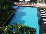 Your balcony view of the beautiful swimming pool