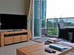 Smart TV and DVD entertainment centre