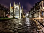 York has a buzzing nightlife, with ghost walks and tours, music and restaurants.