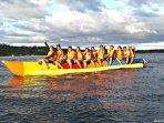 Banana Rafting anyone! 1 of several activities available.
