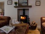Living room log burner