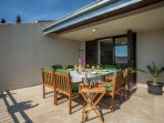 Spacious main terrace with garden furniture is ideal for relaxing with your family and friends.