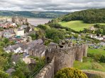 Stroll atop the 700 year old  castle walls to gain a fabulous view of the town and surrounds