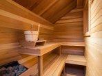 sauna on third floor