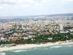 Varna from the top. Central beach of Varna