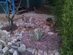 Using local gravel and rocks, our recent landscaping helps to highlight our South West  bungalow.