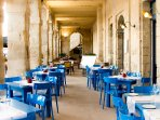 Al fresco dining at Birgu Waterfront