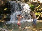 Cooling off... after a good morning's trek at Dimosaris gorge