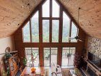 Living room:opens up to deck area and sweeping views