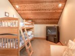 Bunk bed located in the Loft (Full & Twin)