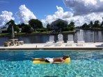 Enjoy the pool on a gorgeous warm day