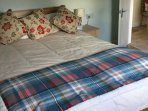 Incredibly comfortable  double bed in very pretty room with lots of storage