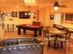 Setup your family own family tournament. Additionally we have a variety of board games and cards.