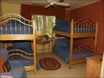 5th Bedroom Bunk Room with 4 twin bunk beds w/bath