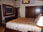 Master Bedroom with Large Screen TV