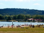Lake Saint Pardoux, another picturesque tourist attraction, lovely beaches and watersports.