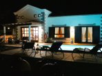 FRONT VIEW OF VILLA MICI BY NIGHT