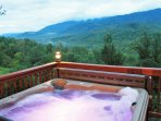 Soak your cares away in our hot tub.  We're 5 minutes away from the Great Smoky Nat'l Park entrance