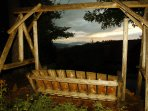 Enjoy the sunsets from the front of the cabin in our swing.  Many guests have seen bears from here.