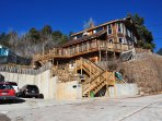 The home is on the side of a mountain and is over 4,000 square feet.