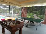 Outdoor Ping Pong and Foosball Tables
