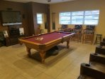 Adult Game Room (HDTV w/Surround Sound - 8 Ft Pool Table w/3 Spectator Chairs)