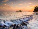 Sunset on Beautiful Waimanalo Beach