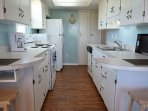 The kitchen is on the main level and has everything for your cooking needs.