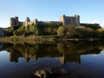 Rocky Park has stunning views out across the millpond and Castle.