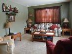 upper level living room with queen sleeper