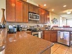 Prepare a homecooked meal in the fully equipped kitchen.