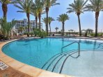 Enjoy a float around the Lazy River Pool overlooking the bay.