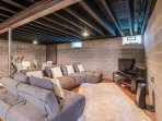 Basement. Spacious basement with lots to do! Pool table, table tennis, air hockey. Large sectional