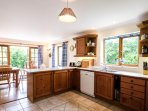 Open plan kitchen to dining area and out to garden patio - perfect for entertaining!