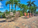 Soak up some rays on the fully furnished patio.