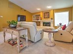 Kick back and relax with the flat-screen cable TV in the living room.