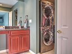 In unit laundry machines for your convenience!